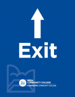 Printable Letter Sized Sign - Exit with Up Arrow (8.5x11)
