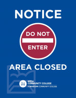 Printable Letter Sized Sign - Notice: Area Closed - Do Not Enter (8.5x11)