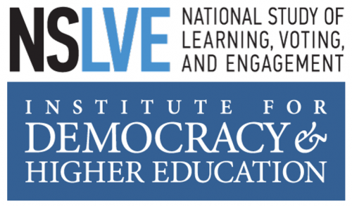 NSLVE - National Study of Learning, Voting, and Engagement : Institute for Democracy & Higher Education