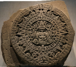 Aztec Sun Stone at Anthropology Museum, Mexico City