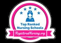 Top Ranked Nursing Schools badge from RegisteredNuring.org