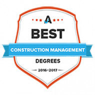 A Best Construction Management Schools badge