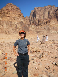 MCC Geography Professor Niccole Cerveny, Ph.D. at Wadi Rum Protected Area in Jordan.