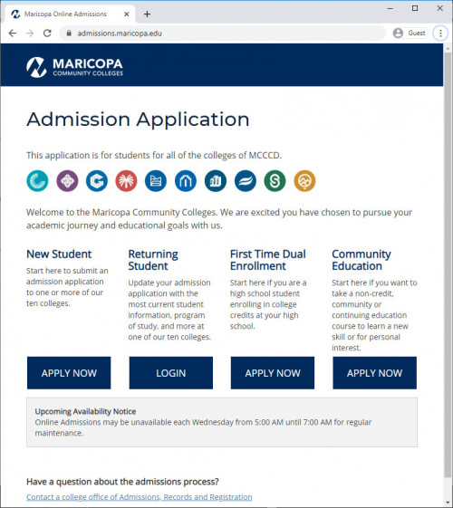 Maricopa Online Admissions