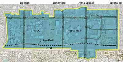 Map of Fiesta District Revitalization