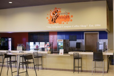 Dining area and coffee shop of Kirk Student Center.