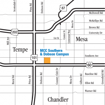 MCC Southern & Dobson Campus on a map