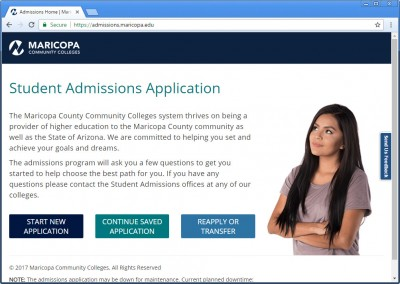 Student Admissions Application
