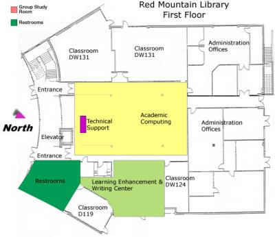 Library Floor Plan - Red Mountain - 1st Floor