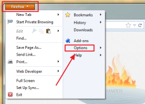 Firefox Options Menu