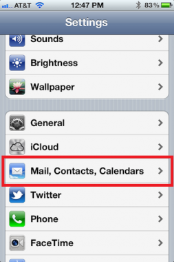 iPhone Mail, Contacts, and Calendars