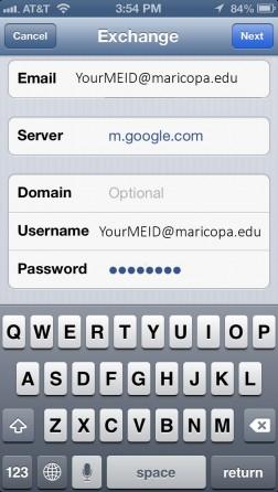 iPhone Server Details