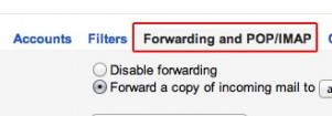 Gmail Forwarding and POP\IMAP Tab