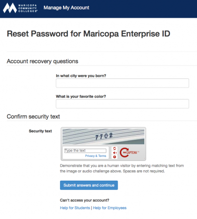 tools.Maricopa security question