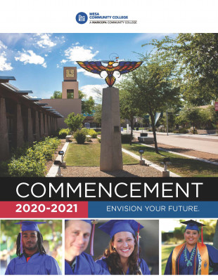 Front cover of the 2020-2021 Commencement Program