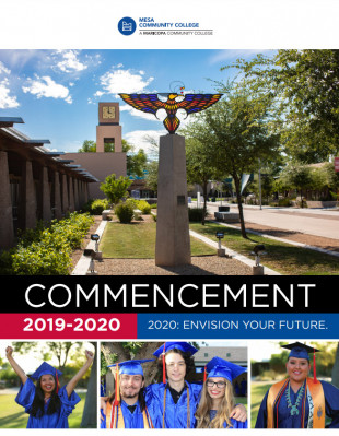 Front cover of the 2019-2020 Commencement Program