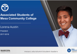 MCC's current student body president, Lorena Austin, is featured in the new digital display.