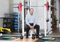 Wayne Balmer in gym