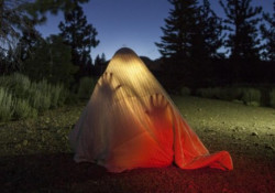 Picture of person under a blanket