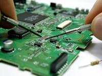 Motherboard with chip and tools