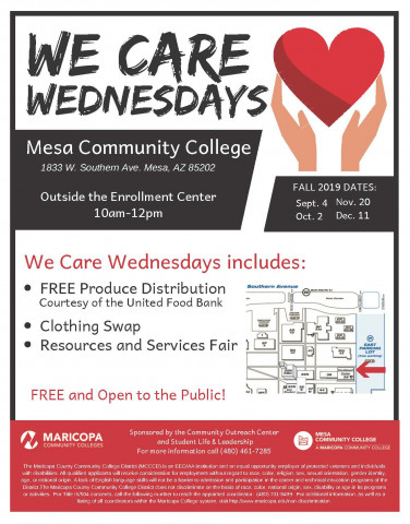 We Care Wednesday flyer