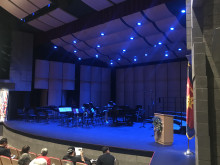Choir and Band Stage Set up in PAC