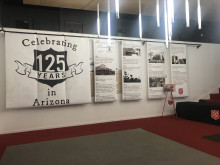 Banner display in PAC lobby