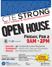 CTE Strong Open House flier