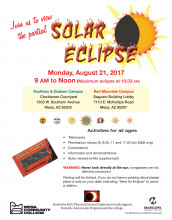 Solar eclipse flyer
