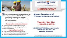 ADOT Hiring Event May 31st