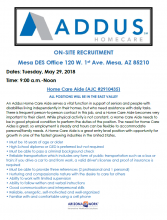 Addus Homecare On-Site Recruitment May 29th