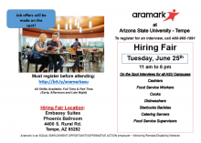 Aramark Hiring Fair June 25th