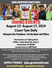 Great Wolf Lodge Hiring Events August 12th - 17th