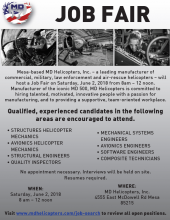 MD Helicopters Job Fair June 2nd