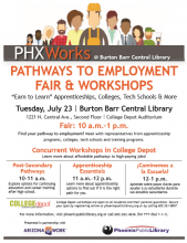Pathways to Employment Fair & Workshop July 23rd