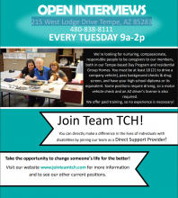 Tch open interviews every Tuesday