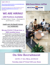 Willis Towers Watson On-Site Recruitment June 6th