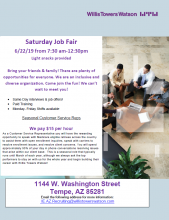 Willis Towers Watson Job Fair June 22nd