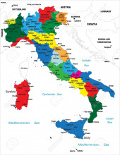 Color map of Italy's regions.